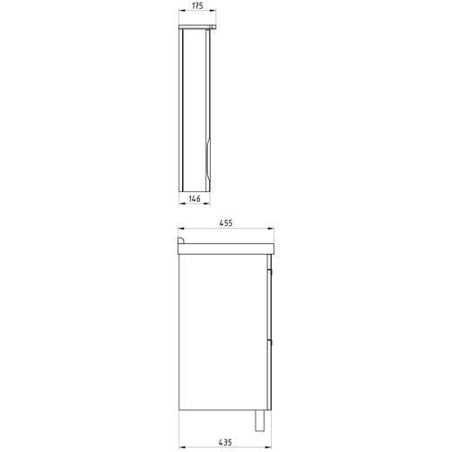 Подстолье Миранда 80 (Белый) ASB-Woodline 38117080 4