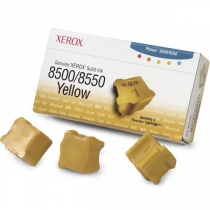 Твердые чернила Xerox 108R00671 для Xerox Phaser 8500, 8550, оригинальные (жёлтые, 3 шт, 3000 стр) 8000-01