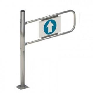 Ворота для торговых залов MDM_SW.007.001 механические левые хром