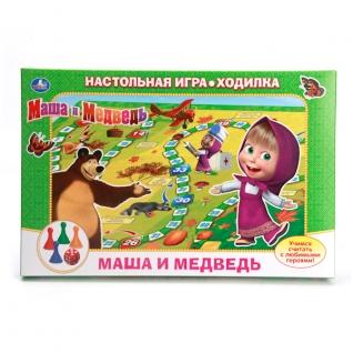 """Настольная Игра-Ходилка """"Умка"""" """"Маши И Медведь"""" В Русс."""