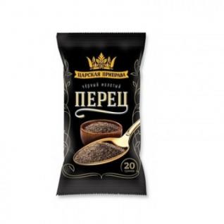 Приправа Перец черный молотый Царская приправа, пакет,20г