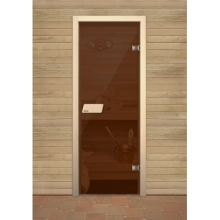 Дверь для сауны NARVIA, Бронза 7х19
