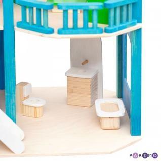 """Игрушечный домик """"Лазурный берег"""" с мебелью 21 предмет"""
