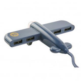 Разветвитель USB HUB Plane, синий УТ000016842