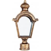 Садово-парковый фонарь Feron PL4015 60W 230V E27 черное золото