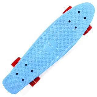 Скейт борд 4-колёсный Hubster Cruiser 22 синий с красными колесами