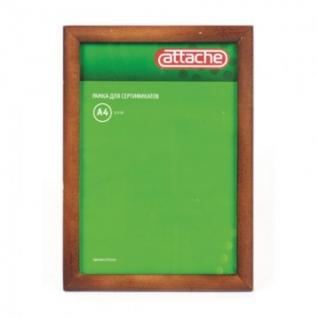 Рамка А4(21х30)ATTACHE темная сосна, деревянный багет, настенная