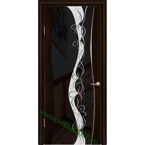 Дверь ульяновская шпонированная Тироль со стеклом триплекс 49379 2