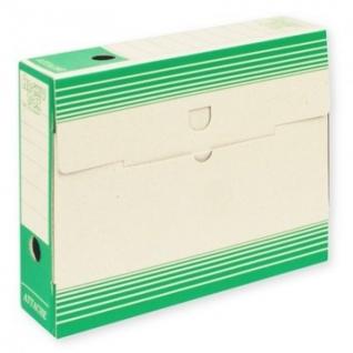 Короб АрхивныйATTACHE,75 мм,переплетный картон,зелен