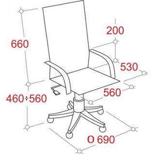 Кресло VT_CH685 ткань серая