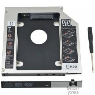 """Orient ORIENT Адаптер UHD-2SC12, для 2.5"""" SATA HDD для установки в SATA отсек оптического привода ноутбука 12.7 мм (30263)"""