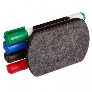 Набор с магнитной губкой и 4 маркерами Attache (WB2008)
