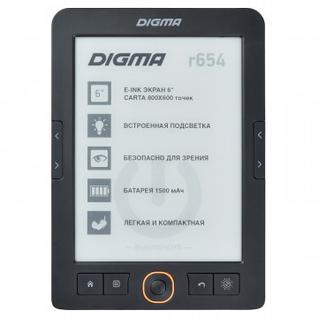 Книга электронная Digma R654, графит