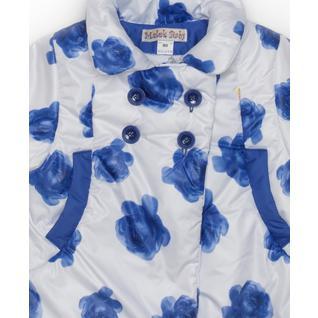 Пальто MalekBaby осень-весна, синие розы 710Т