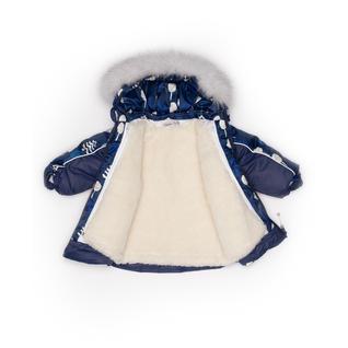Комплект MalekBaby (Куртка + Полукомбинезон), С опушкой, №254/1 (Деревья+синий) арт. 409ШМ/2
