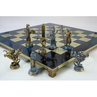 """Шахматы """"Олимпицы"""" в кейсе (синяя доска), очень большие"""