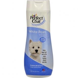 8in1 8in1 шампунь-кондиционер для собак PC White Pearl для светлых окрасов с ароматом кокоса 473 мл