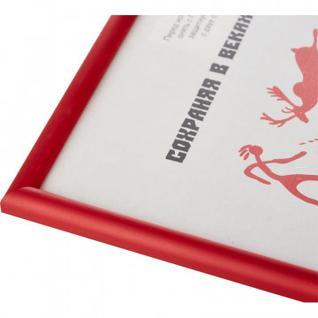 Рамка пластиковая 21x30 (A4) Красный, с пластиком