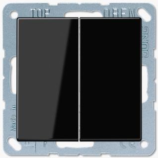 Выключатель Jung LS серия (505U-LS995SW) двухклавишный 10А черный пластик