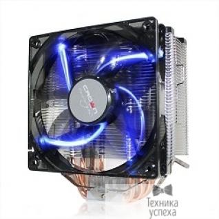 Crown CROWN Кулер для процессора CM-5 (Для Intel и AMD,TDP до 187 Ватт,5шт. теплопроводных трубок,Синяя светодиодная подсветка,Гидродинамическиий подшипник,Размер: 148*126*85 мм)