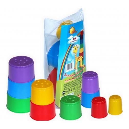 Занимательная пирамидка №2 (10 элементов) (в пакете) Полесье 37880253 1