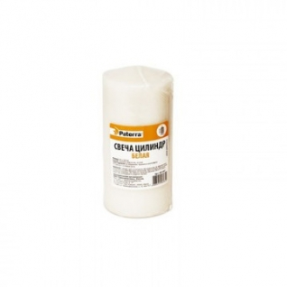 Свеча столбик, 60x120мм, белая PATERRA, в п/э упаковке 401-447