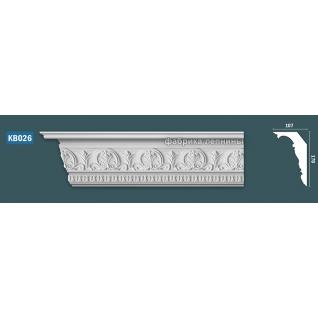 KB026 Карниз гипсовый с орнаментом - h170x107мм