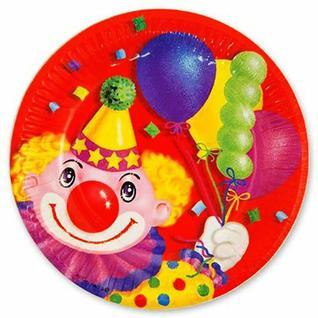 ВЕСЕЛАЯ ЗАТЕЯ Тарелка бум Клоун с шарами 17 см. 6 шт.