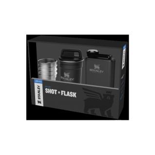 Черный набор стопок STANLEY Adventure 0,59L + Фляга 0,23L 10-01883-035