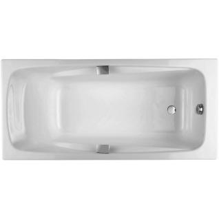 Ванна чугунная Jacob Delafon REPOS 180*85 см белая с отверстиями под ручки