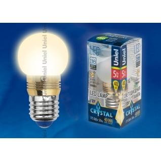 Uniel LED-G45P-5W/WW/E27/FR ALC02GD пластик