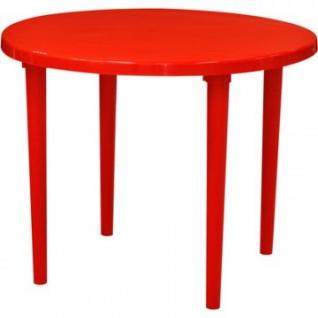 Стол пластиковый SPG_круглый D90, красный