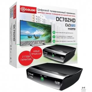 D-Color Ресивер DVB-T2 D-Color DC702HD черный