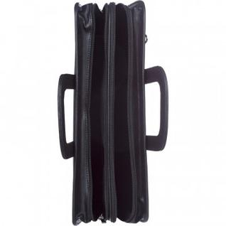 Портфель для документов кож/зам Карьера 360х310х120 мм мод.162, черный