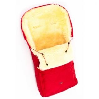 Детский меховой конверт из натуральной овчинки Ramili Baby Classic Red