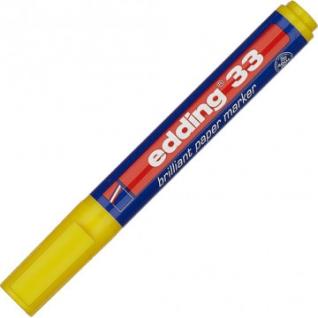 Маркер пигментный EDDING E-33/005 жёлтый 1,5-3 мм скош. наконечник