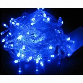 Синяя светодиодная гирлянда, 100 LED, 10 м, 8 режимов (EU/220-250V)