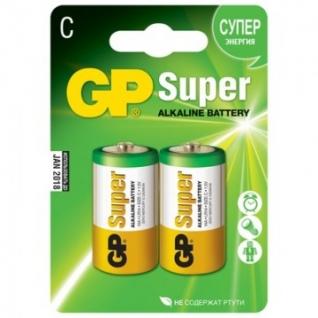 Батарейки GP Super C/LR14/14A алкалин. бл/2шт