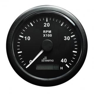 Wema Аналоговый индикатор тахометра чёрный Wema IMHB-BB-4KL 0 - 4000 об/мин 12/24 В