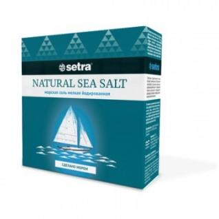 Соль Setra морская натуральная мелкая йодированная 500гр