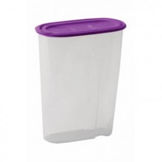 Банка для сыпучих продуктов пласт. фиолетовая 1,5 л.