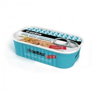 Рыбные консервы Печень трески натуральная (Cod liver natural) Setra,120гр