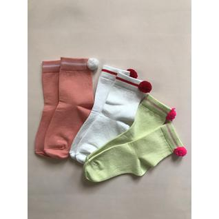 MF214 носки детские набор 3шт с помпоном Mark Formelle (12-18) (20)
