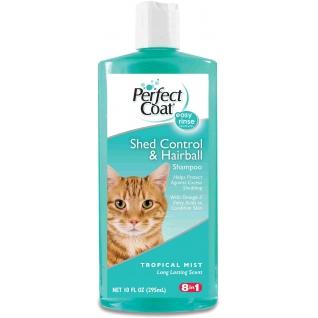 8in1 8in1 шампунь для кошек PC Shed Control & Hairball против линьки и колтунов с тропическим ароматом 295 мл