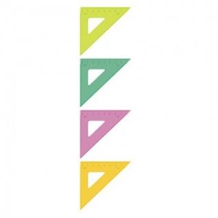 Линейка Треугольник 7  см угол 45 градусов пластик ТК-22 цвет ассорти