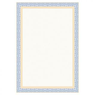 Сертификат-бумага Attache синяя рамка (А4,115г,уп.25л.)