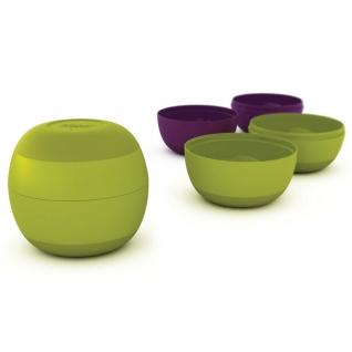 Набор-матрешка из 4х мисок JOSEPH JOSEPH Prep&Store™ зеленый/фиолетовый