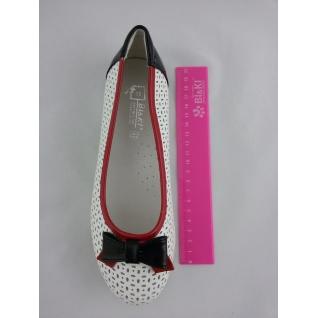 А-В62-14-К (8) белый красный Туфли для девочки 32-37 (35) BI & KI
