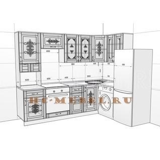 Кухня БЕЛАРУСЬ-8.2 модульная угловая, правая, левая