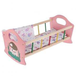 Деревянная Кроватка Для Кукол Большая, В Ассорт. 52См